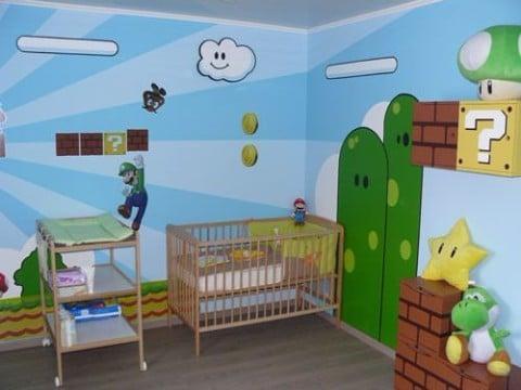 cuarto de mario bros para bebes