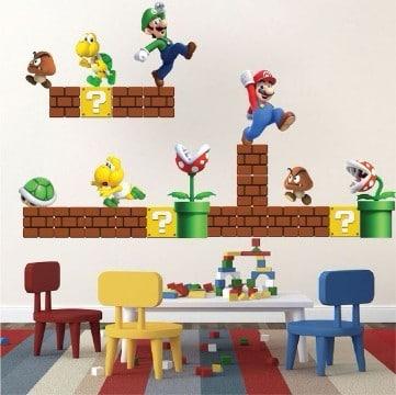 cuarto de mario bros para niños