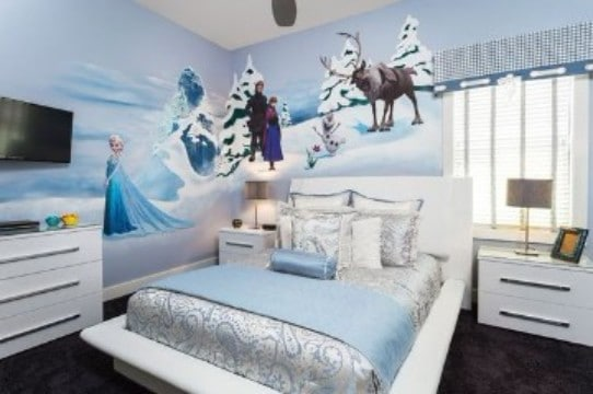 cuartos decorados de frozen de elsa