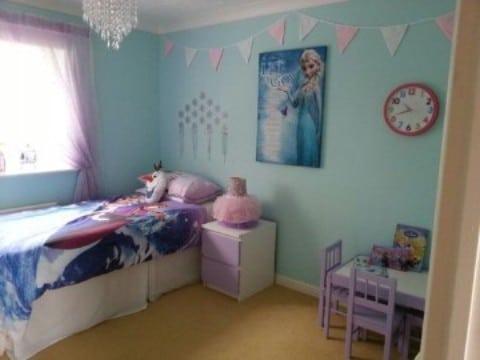 cuartos decorados de frozen para niñas