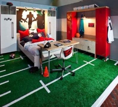 cuartos para niños de futbol creativos