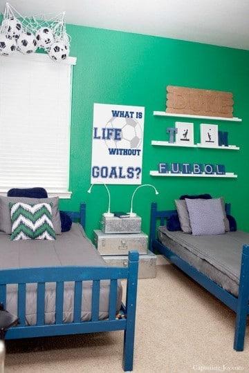 cuartos para niños de futbol sencillos