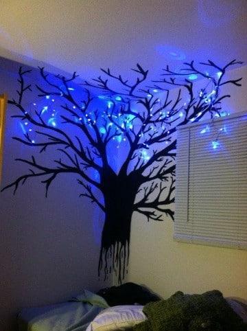 dibujos para decorar cuartos con luces