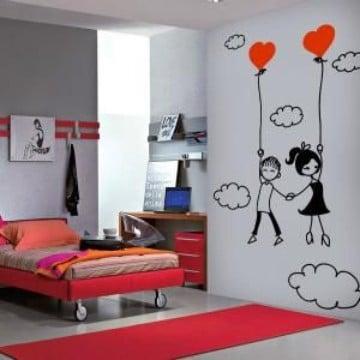 Originales y grandes dibujos para decorar cuartos como for Decoracion de habitaciones para parejas