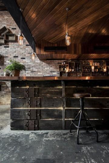 diseños de barras de bar rustico