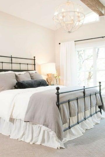 dormitorios vintage blanco iluminados