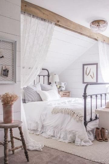 dormitorios vintage blanco neutros