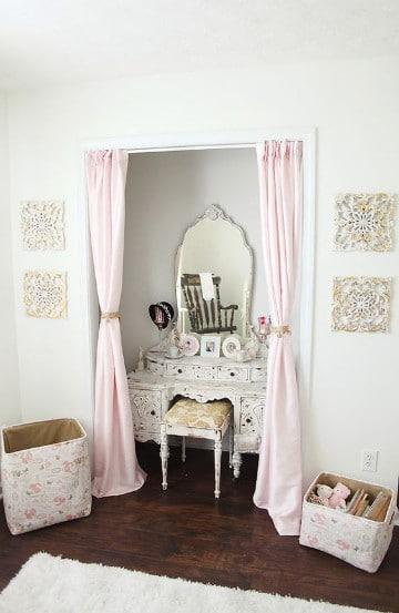 dormitorios vintage blanco para chicas