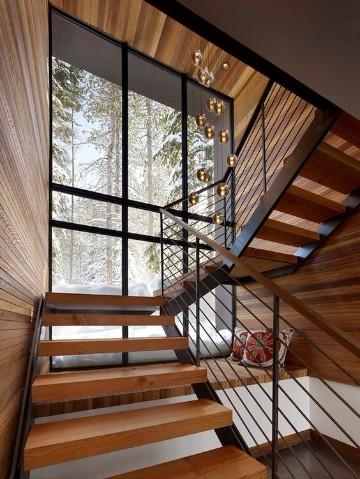 escaleras modernas para casa de madera