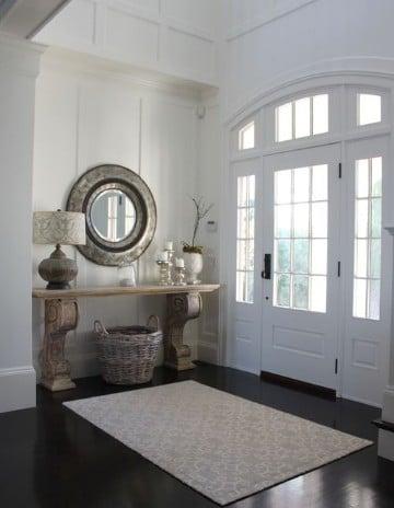 espejos en la entrada de la casa modernos