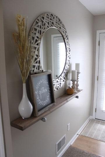 espejos modernos para sala con diseño