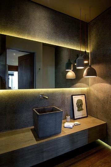 espejos para baño con luz modernos
