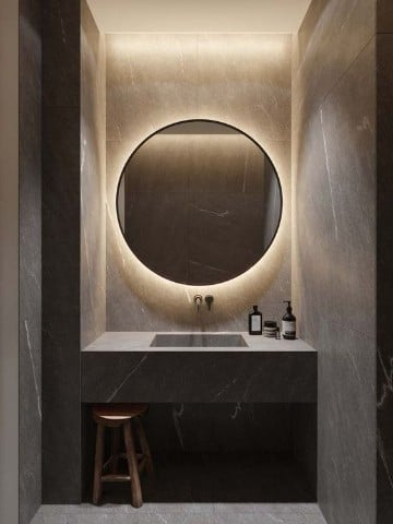Hermosos espejos para ba o con luz para decorar como for Espejos para banos con luz incorporada