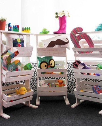 estantes para guardar juguetes hecho en casa