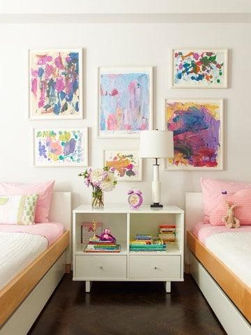 habitaciones infantiles compartidas para niñas