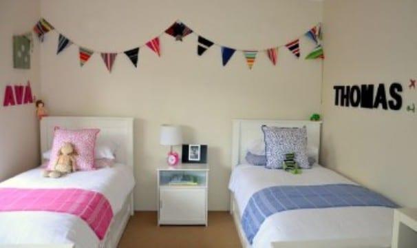 habitaciones infantiles compartidas para niño y niña