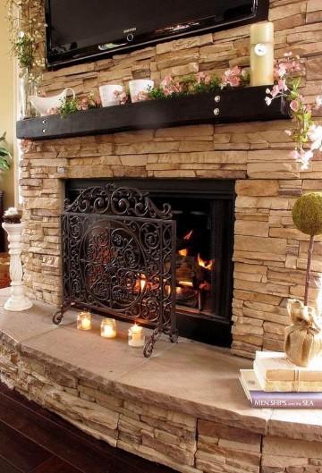 Dise os e imagenes de chimeneas rusticas en casas - Chimeneas rusticas ladrillo ...
