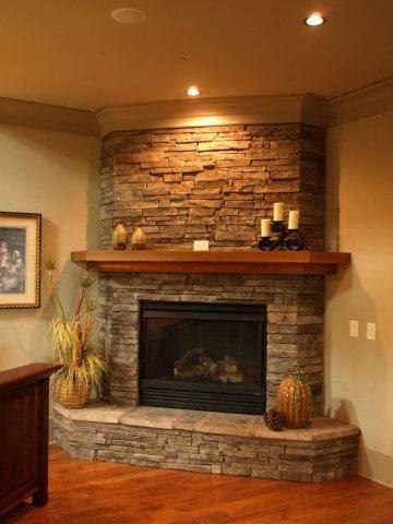 Dise os e imagenes de chimeneas rusticas en casas - Chimeneas de piedra ...