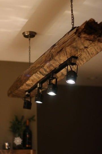 lamparas de techo de madera luces led