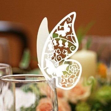 mariposas de papel para decorar copas