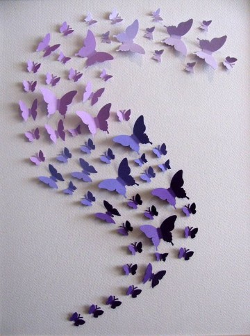 Decorar Pared Com Mariposas De Papel