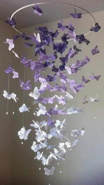 mariposas de papel para decorar espacios