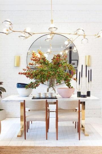 Algunos diseños de espejos decorativos para comedor