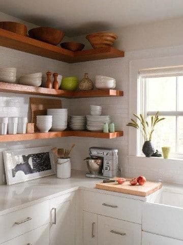 repisas de madera para cocina pequeñas