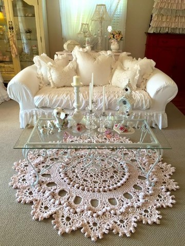 tapetes decorativos para sala crochet