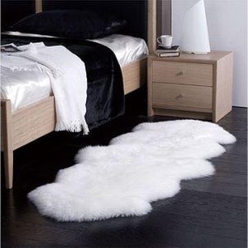alfombras blancas peludas para habitacion