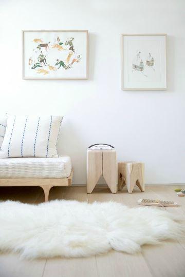 alfombras blancas peludas