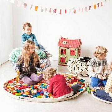 alfombras de juegos para niños y guardar juguetes