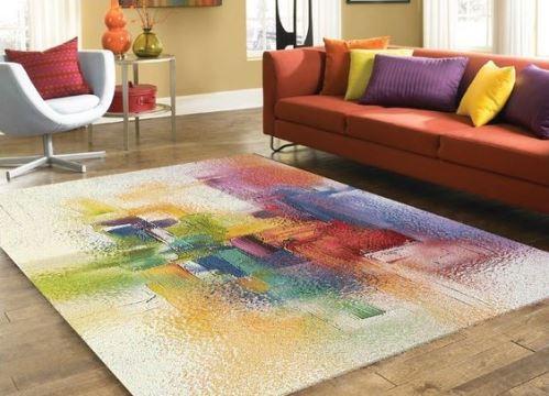 alfombras de lana modernas y coloridas