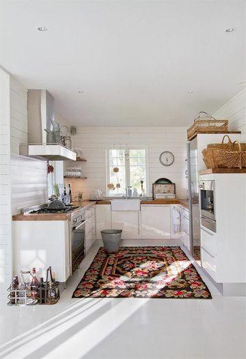 alfombras de vinilo para cocina rectangular