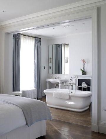 baños abiertos al dormitorio