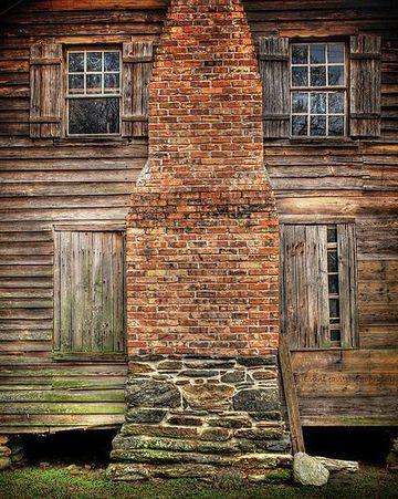 cabañas de ladrillo y madera rustica