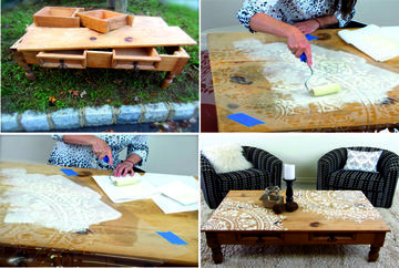 como pintar muebles rusticos con diseño
