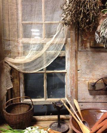 cortinas rusticas para cabañas de cocina