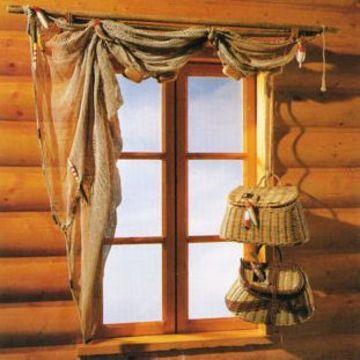 cortinas rusticas para cabañas decorativas
