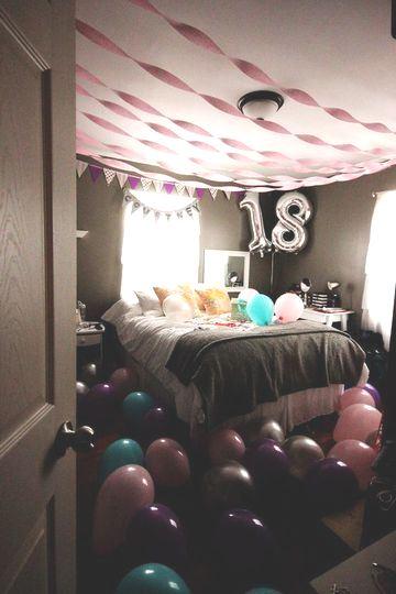 cuartos decorados de cumpleaños numero 18