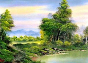dibujos de paisajes pintados naturales