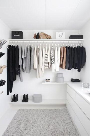 diseños de vestidores modernos pequeños