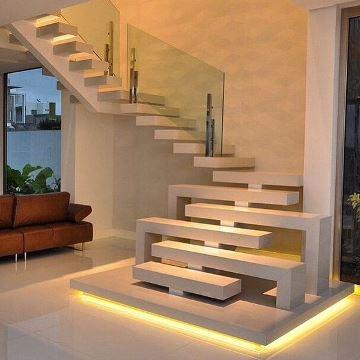 escaleras pequeñas para interiores de concreto