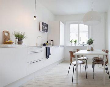 muebles blancos de madera modernos