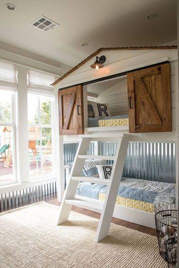 muebles de dormitorio para niños en madera
