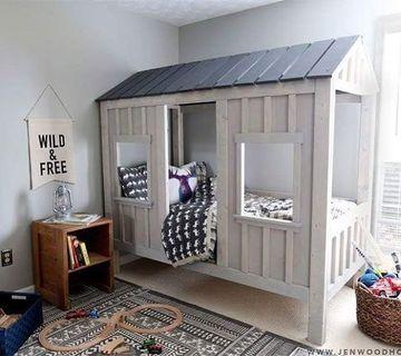 muebles de dormitorio para niños estilo casita