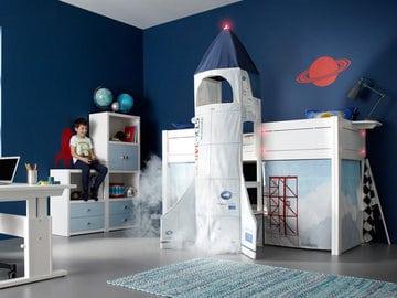 muebles de dormitorio para niños motivo espacial