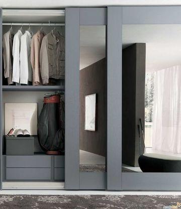 puertas correderas para vestidores con espejo