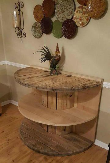 repisas de madera para salas rustica