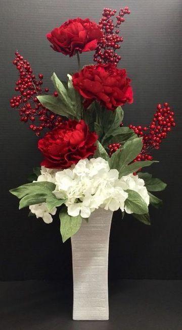 arreglos florales artificiales para salas elegantes